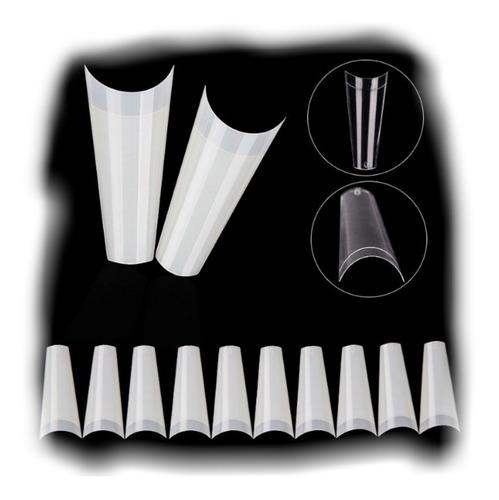 Uñas Postiza Coffin Paquete 500und Tips Natural Manicure
