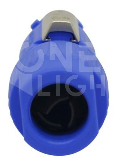 Kit 2 Conector Powercon Macho Azul