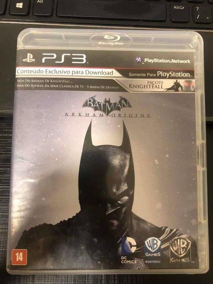 Jogo Ps3 Batman Arkham Origins Mídia Física Impecável Veja!