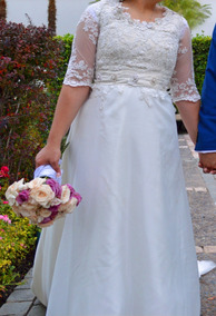 Vestido De Novia - Color Marfil