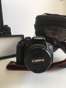Camera Canon T5i + Lente 18/55mm + Led