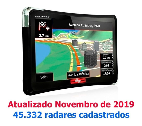 Gps Automotivo Aquarius 4.3 Polegadas Tv Digital Com Radares