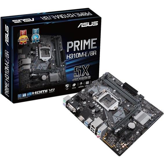 Placa-mãe Intel Asus Prime H310m-e/br Ddr4 1151 8º Geração