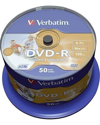 Torre 100 Dvd-r Verbatim 4.7gb 16x Set 100 Unidades Imation