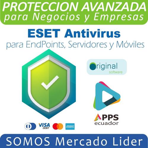 Imagen 1 de 1 de Eset Endpoint Antivirus Desde 5 Pcs + 1 Servidor + 5 Móviles