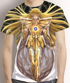 Camisa Shaka De Virgem Cavaleiros Do Zodiaco Estampa Total