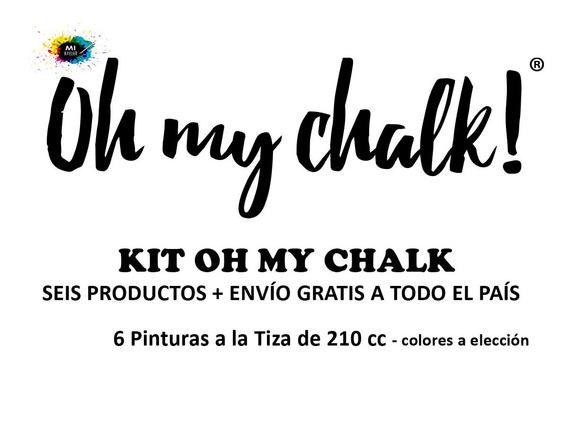 Kit Oh My Chalk - 6 Pinturas - E. Gratis
