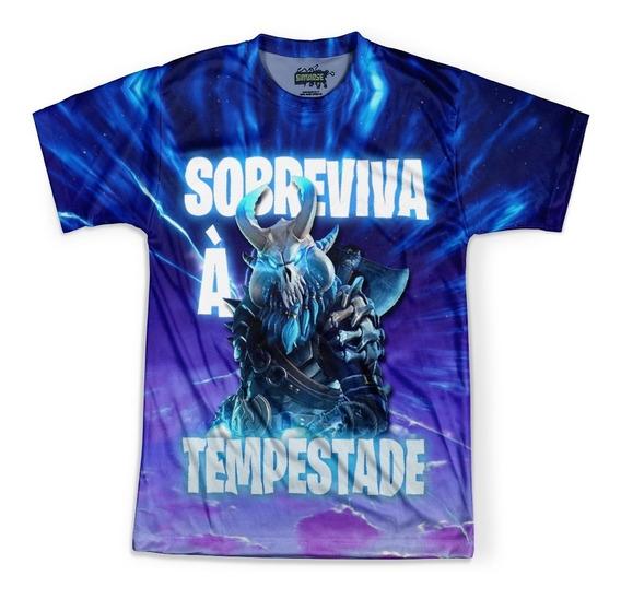 Camiseta Masculina Jogo Fortnite Camisa Full Print Hd Md04