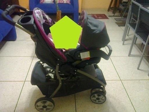 Coche, Corral Y Porta Bebé Graco Usado.