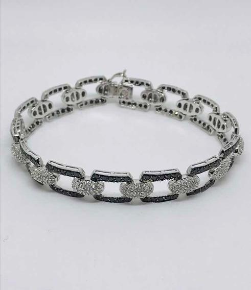 Glitter Pulseira Bracelete Ouro E 350 Pontos De Diamantes