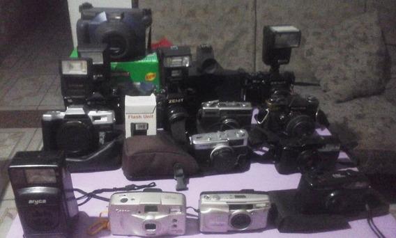 Lote De Câmeras Fotográficas Antigas E Raridades ( Anúncio )