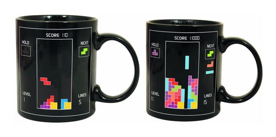 Taza Magica Tetris Cambia De Figuras Con Agua Caliente