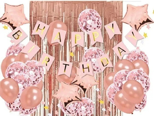 Combo De Globos Metalizados Y Látex  Bouquet Fiestas Eventos