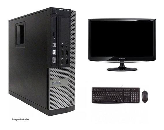 Computador Desktop Dell 7010 I3 8gb 120ssd Monitor 18
