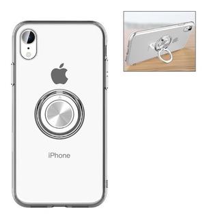Caso Anel Metal Tpu Transparente Para iPhone 6/7/8/6p/7p/8p/