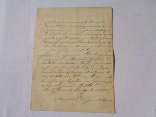 Duque De Caxias Carta Militar Assinada Guerra Paraguai