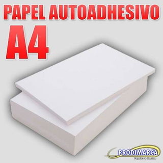 Papel Autoadhesivo Mate 130 Gr A4 X 25 Hojas Láser Fasson