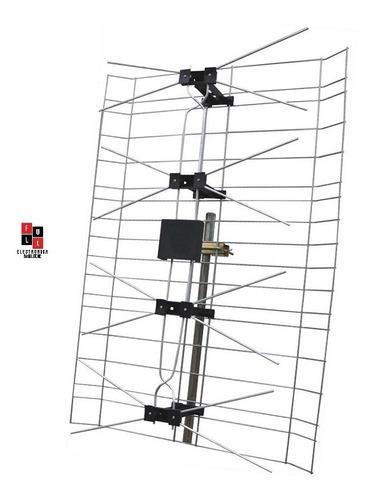 Antena Plana Parrilla Tv Led Uhf Digital Tda Hd Reforzada