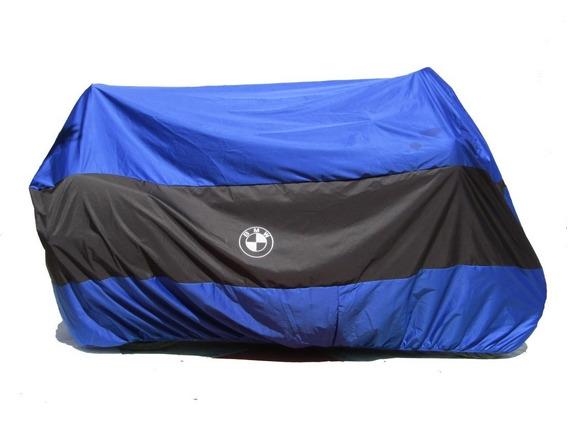 Funda O Cubierta Bicolor Azul Para Motos Grandes Tipo Bmw