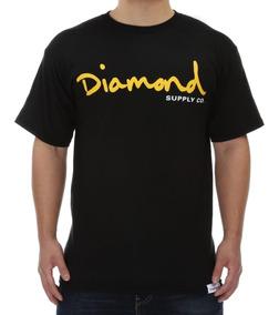 Camiseta Diamond Script Com Etiqueta Na Barra /grizzly/high