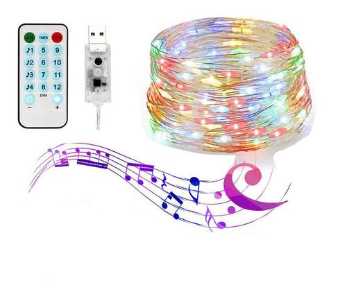 Serie Luces 200 Led Decoración 20 Mtrs Sync Con Música Color
