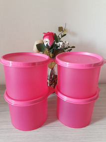 Tupperware Kit Redondinhas Rosa