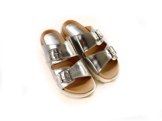 Sandalias Zapatos Suecos Mujer Chinela Birken En Cuero
