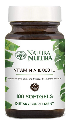 Natural Nutra Vitamina A Sist Inmunitario, Ojos Saludable