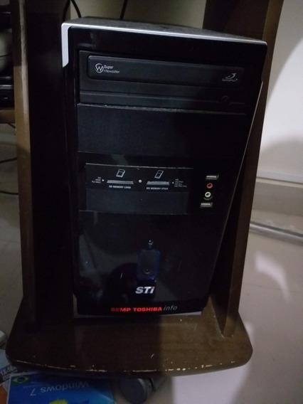 Computador Desktop Sti Com Monitor 14 Lg. Pouco Tempo De Uso
