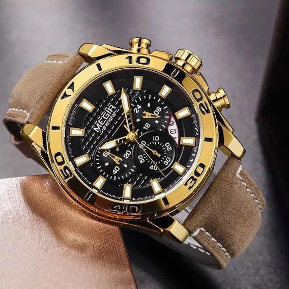 Relógio De Pulso Masculino Megir 2094 Original Com Caixa