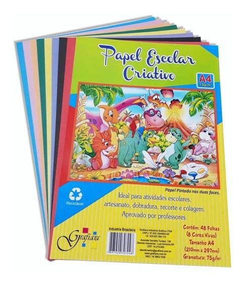 Papel Escolar Criativo Tipo Color Set Lumi A4 Com 144 Folhas