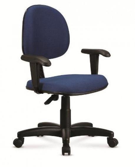 Cadeira Escritório Giratória Preto E Azul - Cercatto