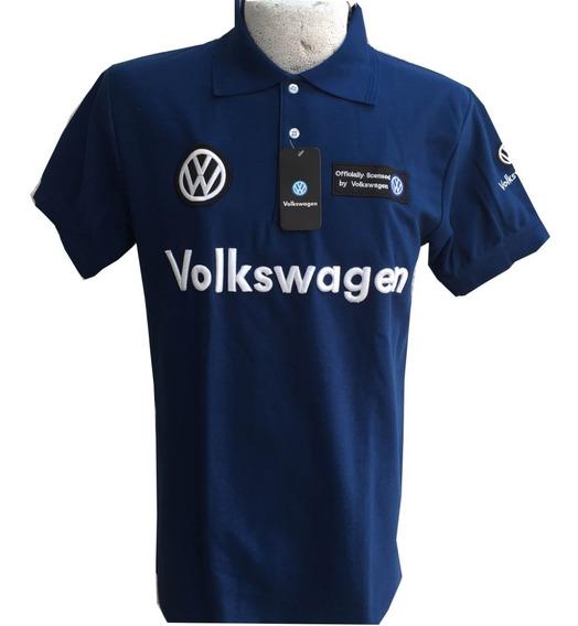 Playera Polo Volkswagen Azul Rey