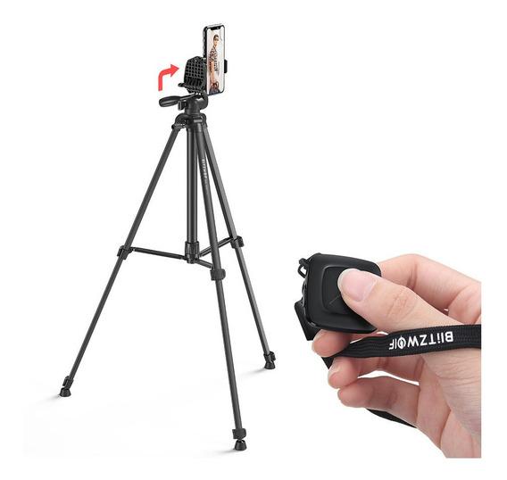 Tripé Blitzwolf Bs0 Pro Câmeras Celular Bluetooth + Bolsa