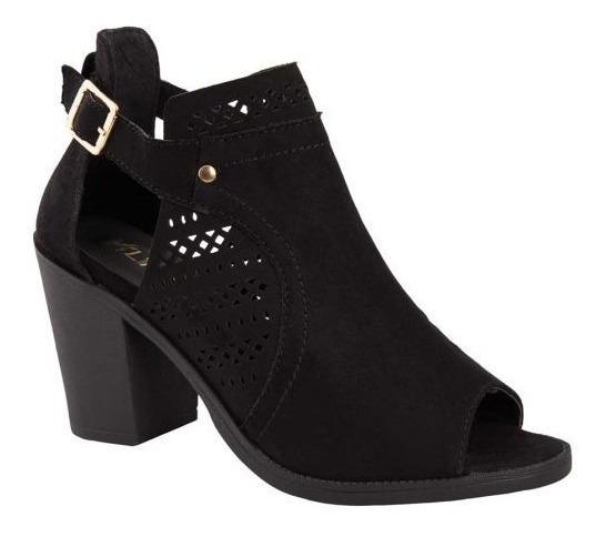 Zapato Elegante Mujer Sexy Negro Tacon 8cm