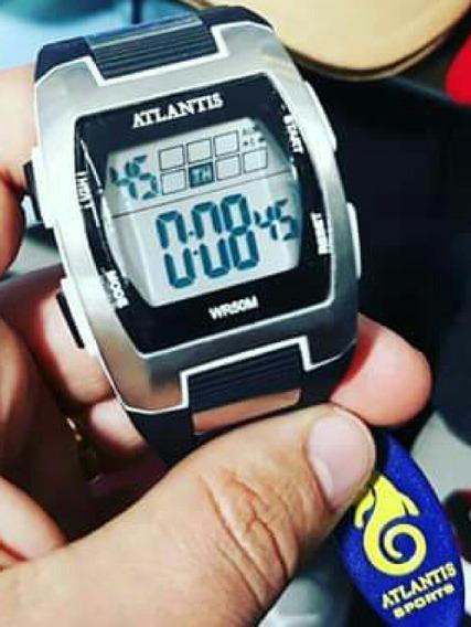 Relógio Masculino Esporte Atlantis 7308g Preto A Prova Dágua