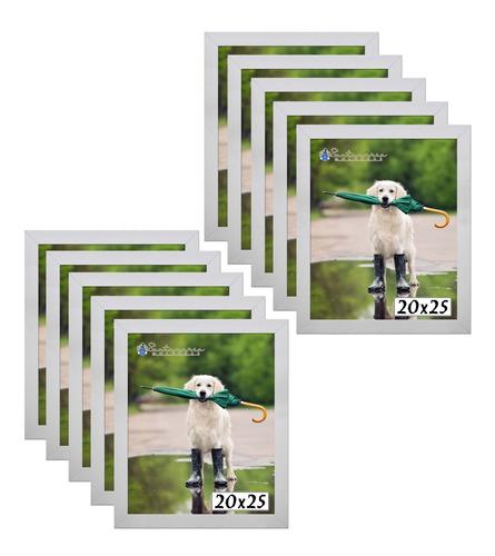 Imagem 1 de 4 de Kit 10 Porta Retrato Molduras 20x25 Branco