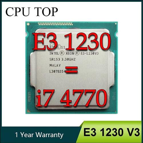 Cpu Processador Intel Xeon E3 1230v3 Equivale A ( I7 4770 )