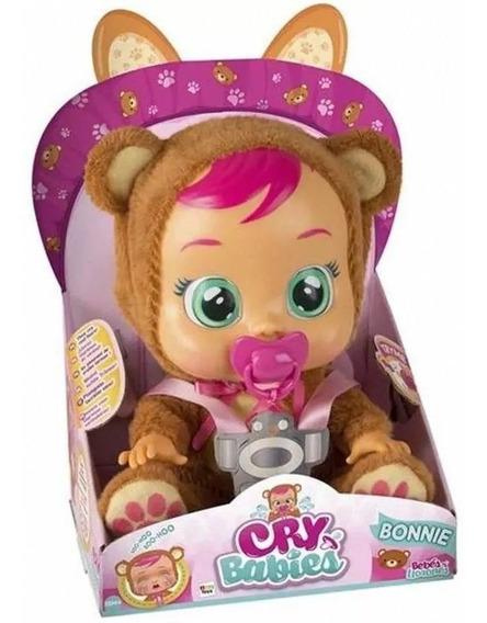 Boneca Cry Babies Bonnie Chora De Verdade C/ Chupeta- Br1028