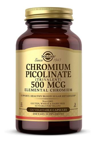 Solgar - Chromium Picolinate 500 Mcg Vegetable Capsules 120