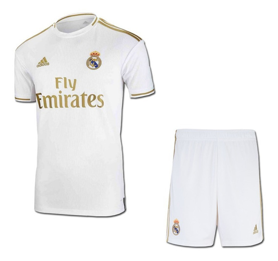 Novo Uniforme Do Real Madrid 2020 Original - Infantil