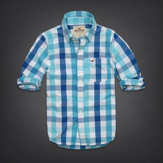 Hollister Remate Camisa Manga Larga Cuadros Shirt Import Usa