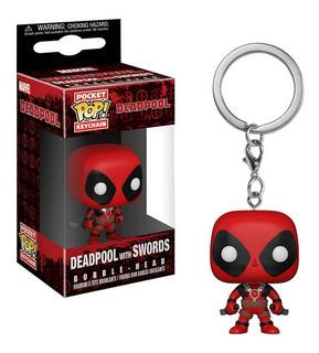 Funko Pop Keychain Deadpool With Swords Marvel