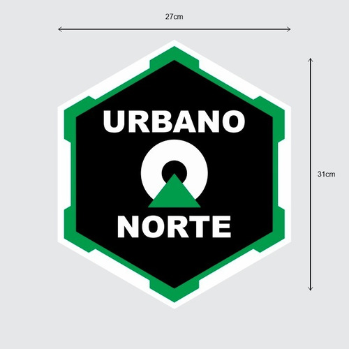 Adesivo Imantado Para Carro Urbano Norte 2x Imã Porta 31x27