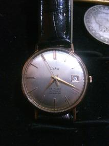 Relógio Eska Automático 25 Rubis Em Ouro Maciço