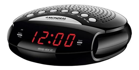 Rádio Portatil Mondial Am/fm, Funções Relógio E Alarme