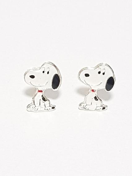 Aretes De Snoopy De Plata Con Envio Gratis