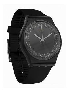 Reloj Swatch Darksparkles Suob156   Original Envío Gratis