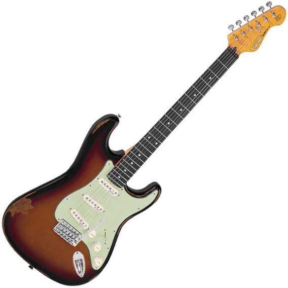 Guitarra Vintage Stratocaster Sunset Sunburst V6mr Icon