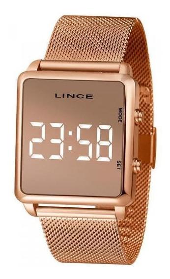 Relógio Feminino Lince Led Espelhado Digital Mdr4619l